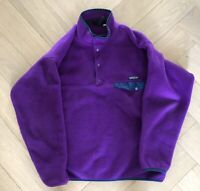 Patagonia Vintage Large L Purple  Pullover Fleece Snap RN 51884
