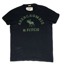 Abercrombie & Fitch Men's Large Muscle T Shirt Blue Embroidered Moose