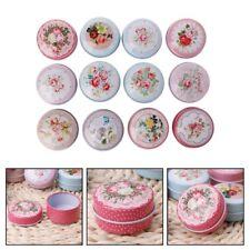 1PC Portable Round Tea Candy Storage Tin Box Lipstick Organizer Makeup Container