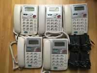 5x Used Office Grandstream Budget-Tone 100 handsets