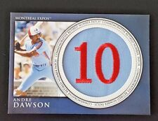 2012 TOPPS ANDRE DAWSON RETIRED NUMBERS COMMEMORATIVE PATCH RN-AD EXPOS