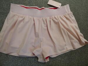 Vaara gym shorts L blush pink sports NEW running tennis dance yoga ladies new