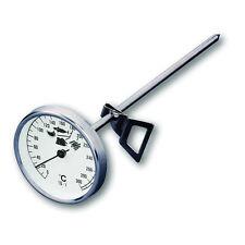 Termometro acciaio  analogico a sonda  da cucina per olio grassi fritto olio