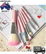 7x Hello Kitty Mini Eye Makeup Brush Set Face Lip Cosmetic Travel Kit Girls Tool
