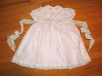 Will'beth Embroidered Pink Dress size 24 Months