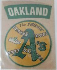 Vintage 1960s The Swingin' Oakland A's Fleer Sticker Ball Cleats Old Logo