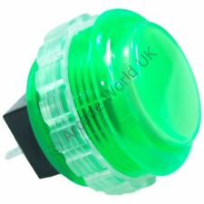 1 x Genuine Green Seimitsu PS-14-KN Screw In Arcade Button - 30mm Mounting Hole