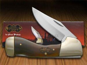 Steel Warrior Choctaw Lockback Messer Glatt Original Ox Horn SW-105OX