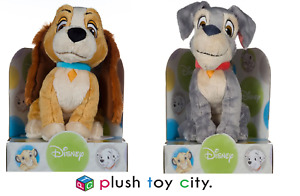 DISNEY LADY & THE TRAMP BOXED SOFT TOY, TRAMP / LADY- 10 INCHES (25CM)  - NEW