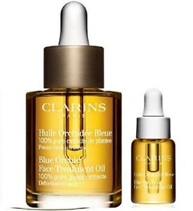 Clarins Blue Orchid Face Treatment Oil Set - for dehydrated skin - 30 ml + 5 ml