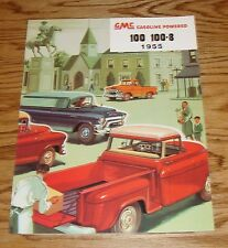 1955 GMC Truck 100 100-8 Foldout Sales Brochure 55 Pickup Panel Suburban