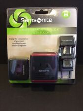 Samsonite Converter / Adapter Plug Kit + POUCH, International Travel, NEW