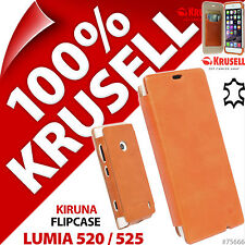 Krusell FlipCover GENUINE LEATHER Slim Flip Case Cover for Nokia Lumia 520/525