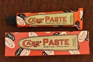 CASE PASTE XX USA PUMPKIN BOX METAL GLOW GLO KNIFE CLEANER RED GREEN BONE STAG