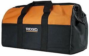 "New Ridgid AEG Extra Large Canvas Contractors Power Tool Bag Case 22""x11""x13"""