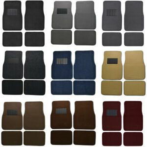 Car Floor Mats for Sedan & SUV 4 Piece Carpet Liner Vinyl Heel Pad - Carpet Mat