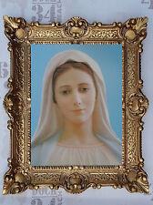 Gemälde Jungfrau Maria Ikonen Heiligenbild mit Rahmen 56x46 cm Religiöse Bilder*