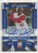 Delino Deshields Jr 2010 Donruss Elite Extra Edition Houston Astros AUTO #61/100