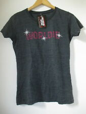 T SHIRT FEMME WORLDIE GEORDIE SHORE OFFICIAL TAILLE M ETHICAL TRADE GRIS MARBRÉ