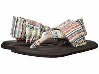 Sanuk Yoga Mat 2 Prints Molten Lava Women/'s Flip Flops Sandals 1095289