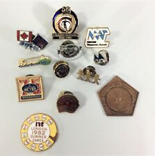 Junk Drawer Pin Lot London Games Ski Club Majorette Group Pins Tags Lot Two