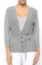 Structure Grey Ladies Button Down Cardigan Size 14   3/4 Sleeve Length Free Post