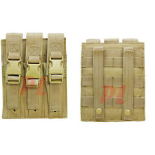 MOLLE Triple Airsoft MP5 Magazine Pouch .22 or 9mm Mag Ammo Flap PAL-TAN