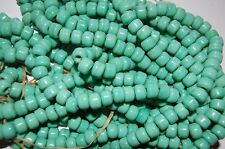 Crow Pony Glass Beads 9 mm strand of a 100 Turquoise Green Beads,Crafts Bead