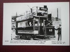 POSTCARD RP SOUTHAMPTON TRAM CAR NO 45 AT FLOATING BRIDGE 1903
