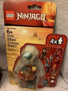 LEGO 40342 Ninjago Minifigure Set 2019 Clutch Powers Kai Pyro Blizzard NEW