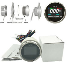 52mm GPS LCD Digital Speedometer  0~999 MPH, Knots, Km/h for Motorcycle Scooter