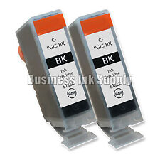 2 New Black PGI-5 PGI-5BK PGI5 GENERIC Ink Cartridge for Canon PIXMA MP830 MP500