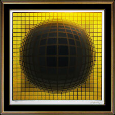Victor Vasarely Screenprint Rare Hand Signed Authentic Modern Op Art Illusion