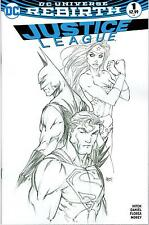 DC REBIRTH JUSTICE LEAGUE #1  MICHAEL TURNER SKETCH COVER VARIANT LTD EDITION