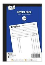 Tallon Just-Stationery Full Size Invoice Book 1-80 Pages Carbon Sheets (8010)