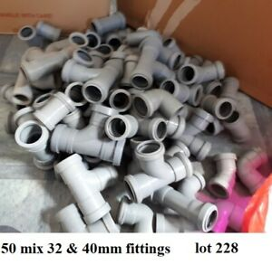 40mm & 32mm push fit pipe fitting mix