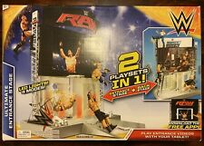 WWE Elite electronic Ultimate Entrance Back Stage figure 2 in 1 Playset NEW