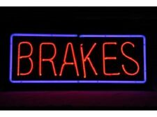 "New Brakes Rectangle Bar Pub Logo Acrylic Bedroom Gift Neon Light Sign 14""x10"""