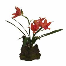 Lucky Reptile -orchidee Lachsrot-Kunststoffpflanze Terrariumpflanzen Reptiles