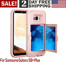 Samsung Galaxy S8 Plus Case Wallet Card Slot Shockproof Heavy Duty Impact Armor
