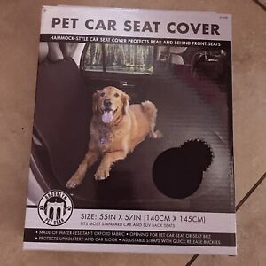 Water Resistant Pet Dog Seat Hammock Cover Car Truck Rear Protector Mat Blanket