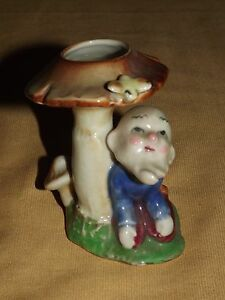 "VINTAGE 3 1/2"" HIGH MADE IN JAPAN CERAMIC MUSHROOM HOLDER"