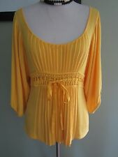Arden B Yellow Knit Sweater Top Size XS