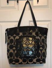 Authentic Coach Signature Shopper ashley Shoulder Poppyhandbag purse tote F18335