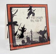 Impression Obsession SIX WITCHES thin metal dies, Halloween, made in the USA