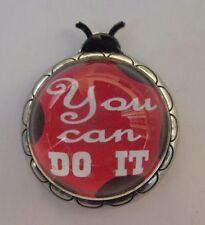 m You can do it inspirational Ladybug Message Figurine miniature ganz
