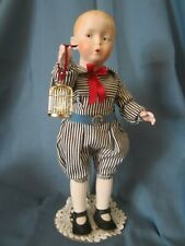 "Reproduction Antique 12.5"" Cabinet Size Heubach Mold 7679 boy doll ""Whistler"""