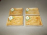 Porcelain mint trays vintage Japanese Arnart crossed arrows small 4 piece READ