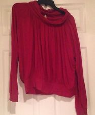 Buffalo Red Long Sleeve Sweater Slightly Loos Sz L