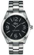 Lacoste Men's Montreal Silver/Black Stainless Steel Watch 2010619